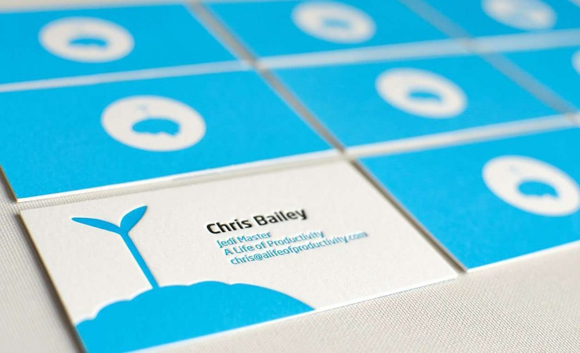 Silkscreen and letterpress business card 1