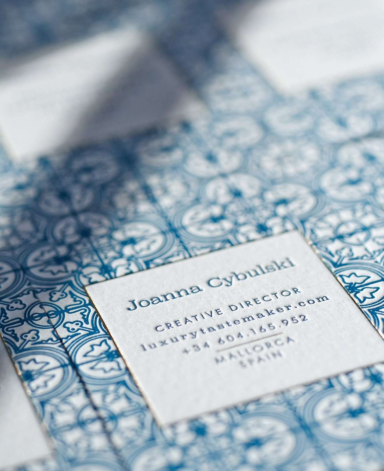Mallorca inspired letterpress business cards elegante press mallorca inspired letterpress business card 6 reheart Gallery