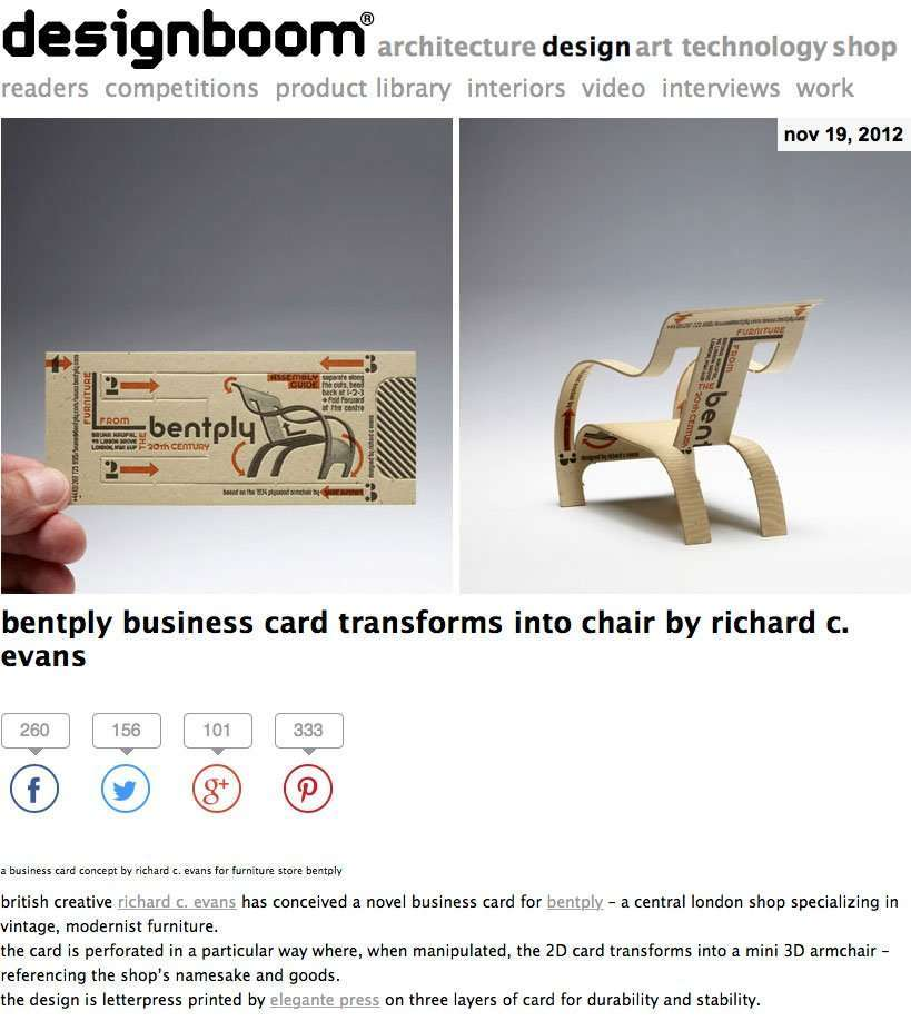 Elegante Press featured on designboom