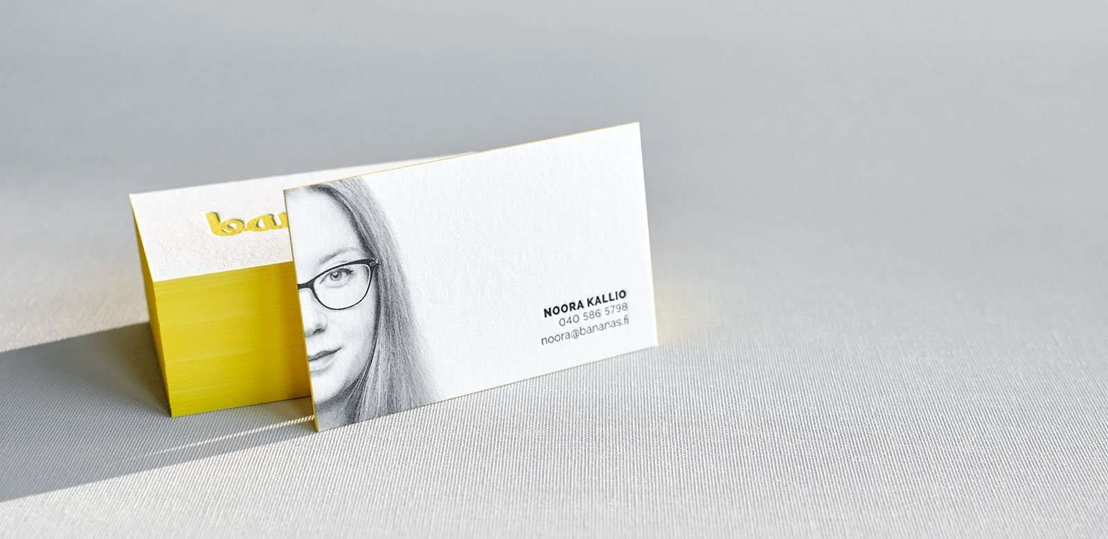 Letterpress business cards with portrait photography elegante press letterpress business card with portrait and painted edges 1 reheart Gallery