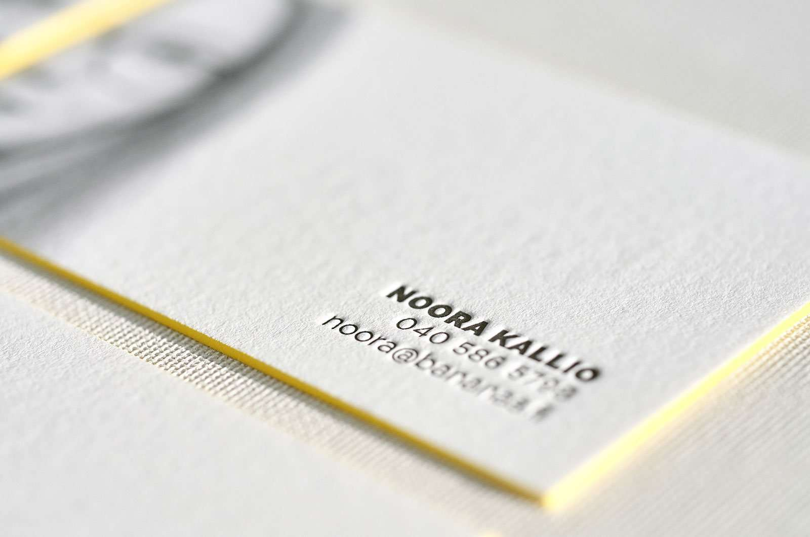 Amazing Letterpress Business Card With Portrait And Painted Edges 4