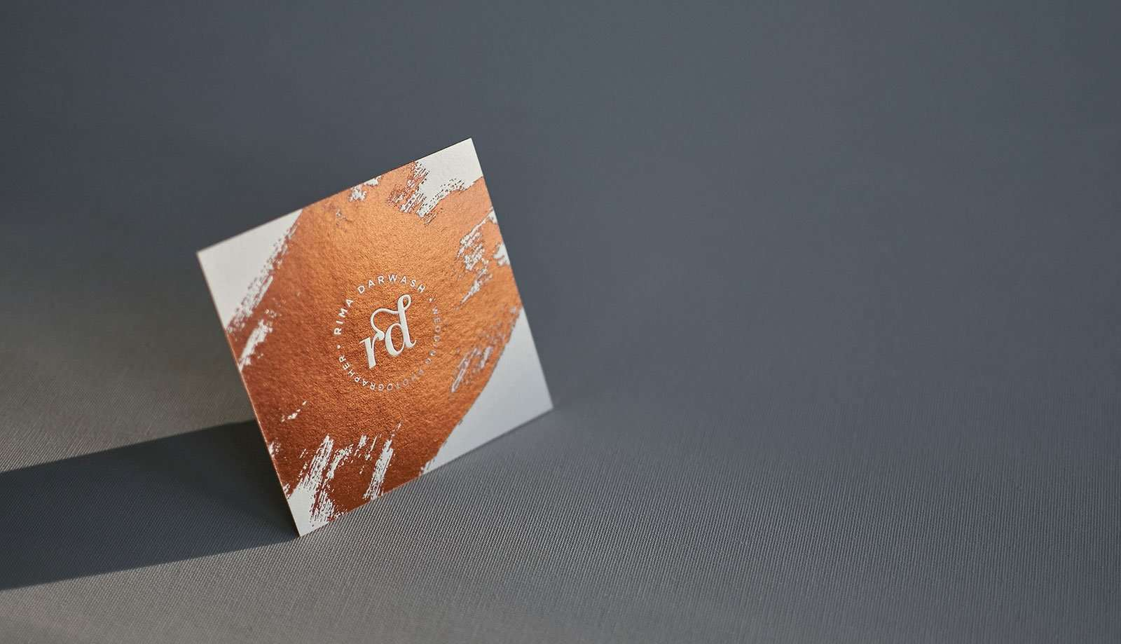 Copper Foiled Square Letterpress Business Cards | ELEGANTE PRESS ...