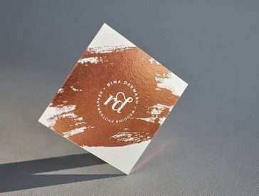 Letterpress business cards elegante press copper foiled square business card online reheart Image collections