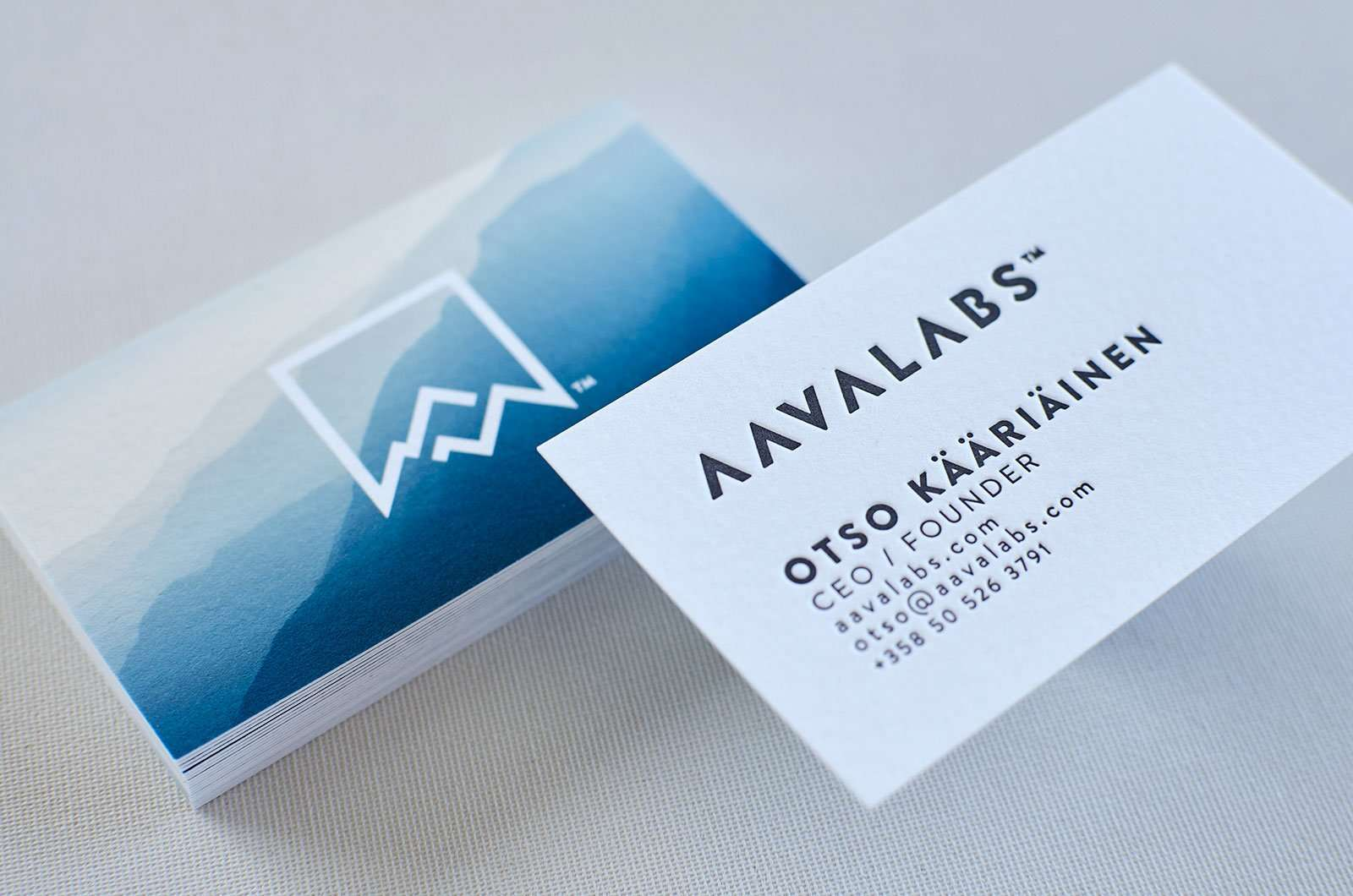 Letterpress Business Cards with Stunning Background | ELEGANTE ...