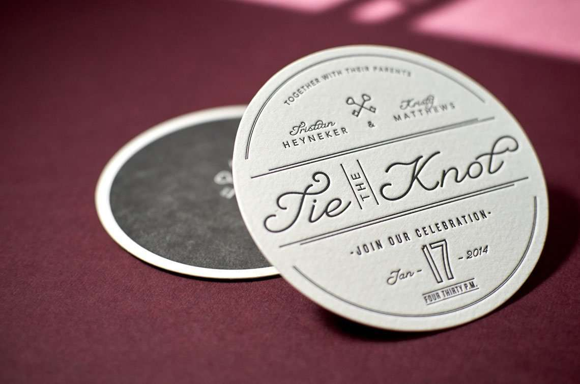 Custom Letterpress Coasters 1
