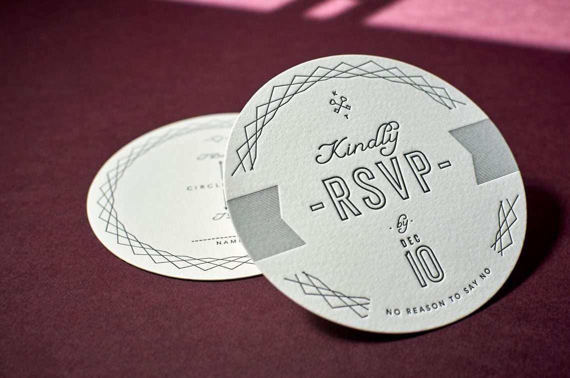 Custom Letterpress Coasters 2