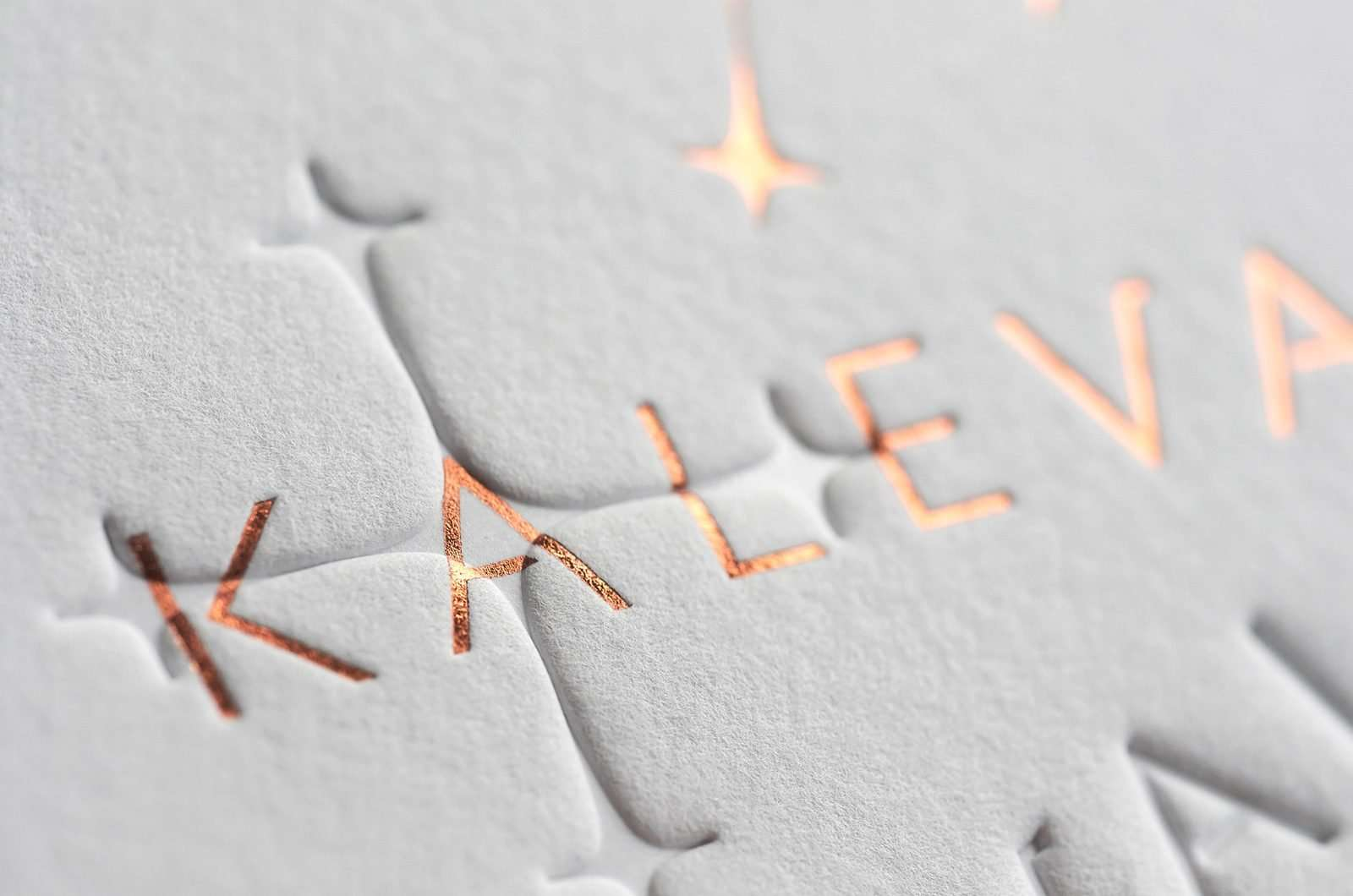 letterpress business card foil copper
