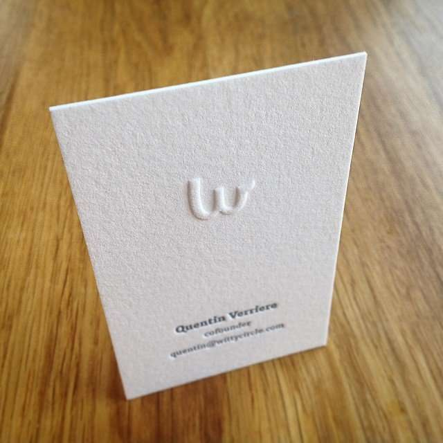 letterpress business card with blind emboss
