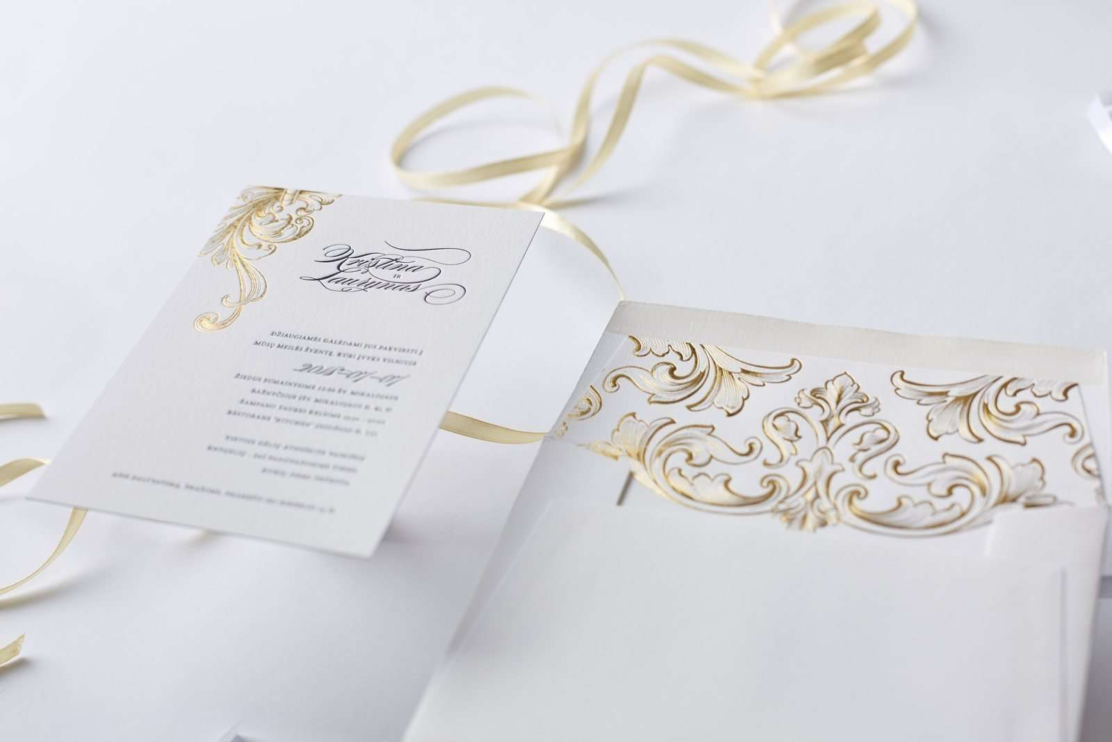 Victorian Style Letterpress Wedding Invitations | ELEGANTE PRESS ...