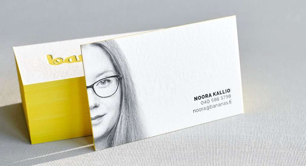 Business Cards Printed in Letterpress and Digital Technologies