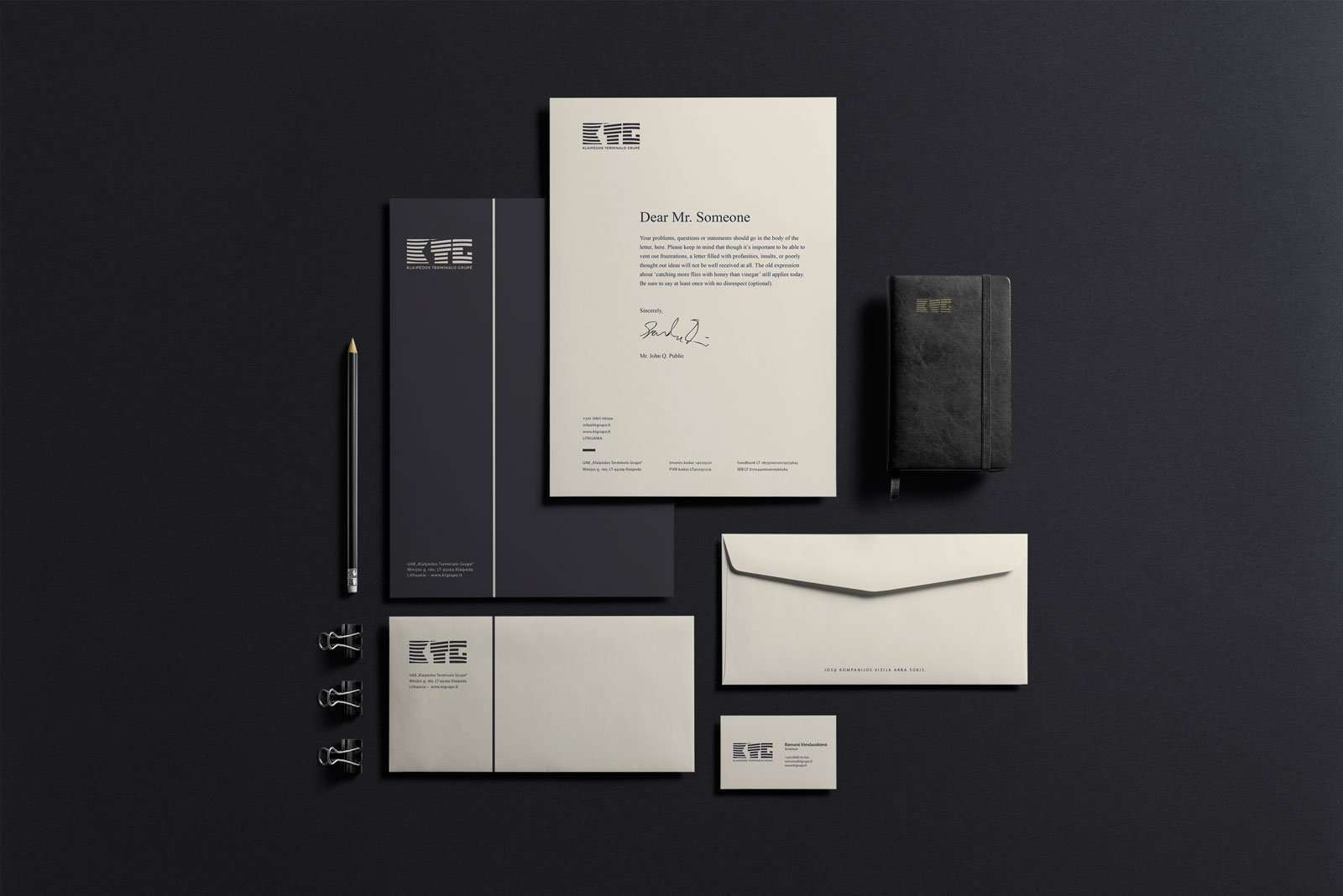 Corporate identity design letterpress business cards elegante ktg corporate identity design letterpress business cards mockup reheart Choice Image