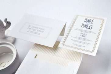 luxury modern wedding invitations