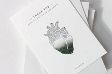 Creative Letterpress and Digital Printed Thank You Cards 2