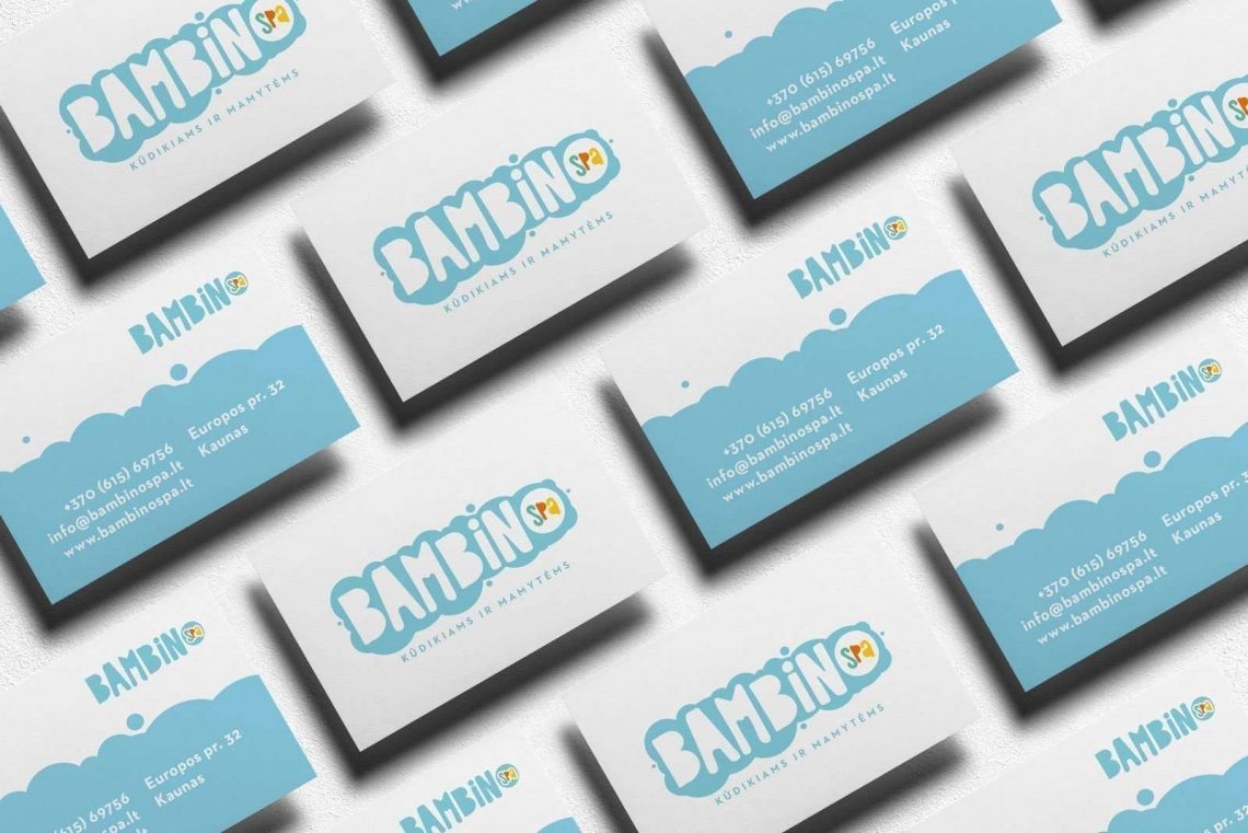 Kids Spa Logotype business cards