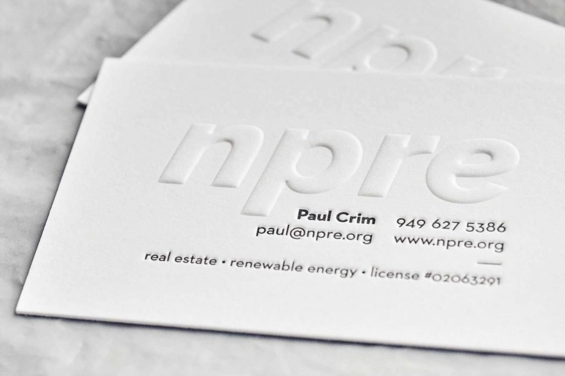 Embossed business cards 04