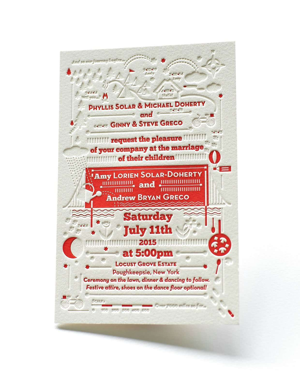 Wedding invitation with blind deboss | ELEGANTE PRESS