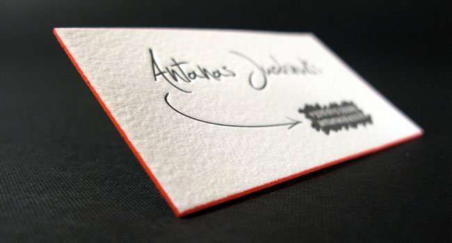 personal name card