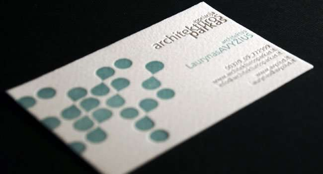 business card for architect 1 - Architect Business Card