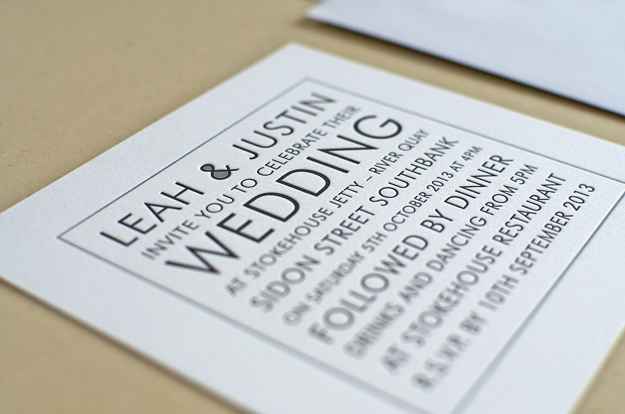 Black & White Wedding Invitation | ELEGANTE PRESS | Design ...
