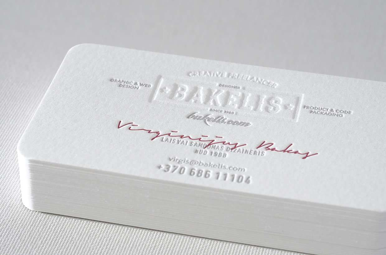 Award winning business card | ELEGANTE PRESS | Design & Letterpress ...