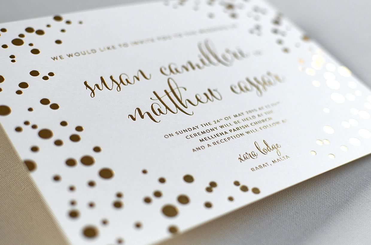 gold foil wedding invitations elegante press design On gold foil wedding invitations