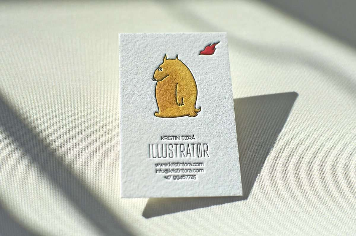 Hand painted business card elegante press illustrator business card 1 colourmoves
