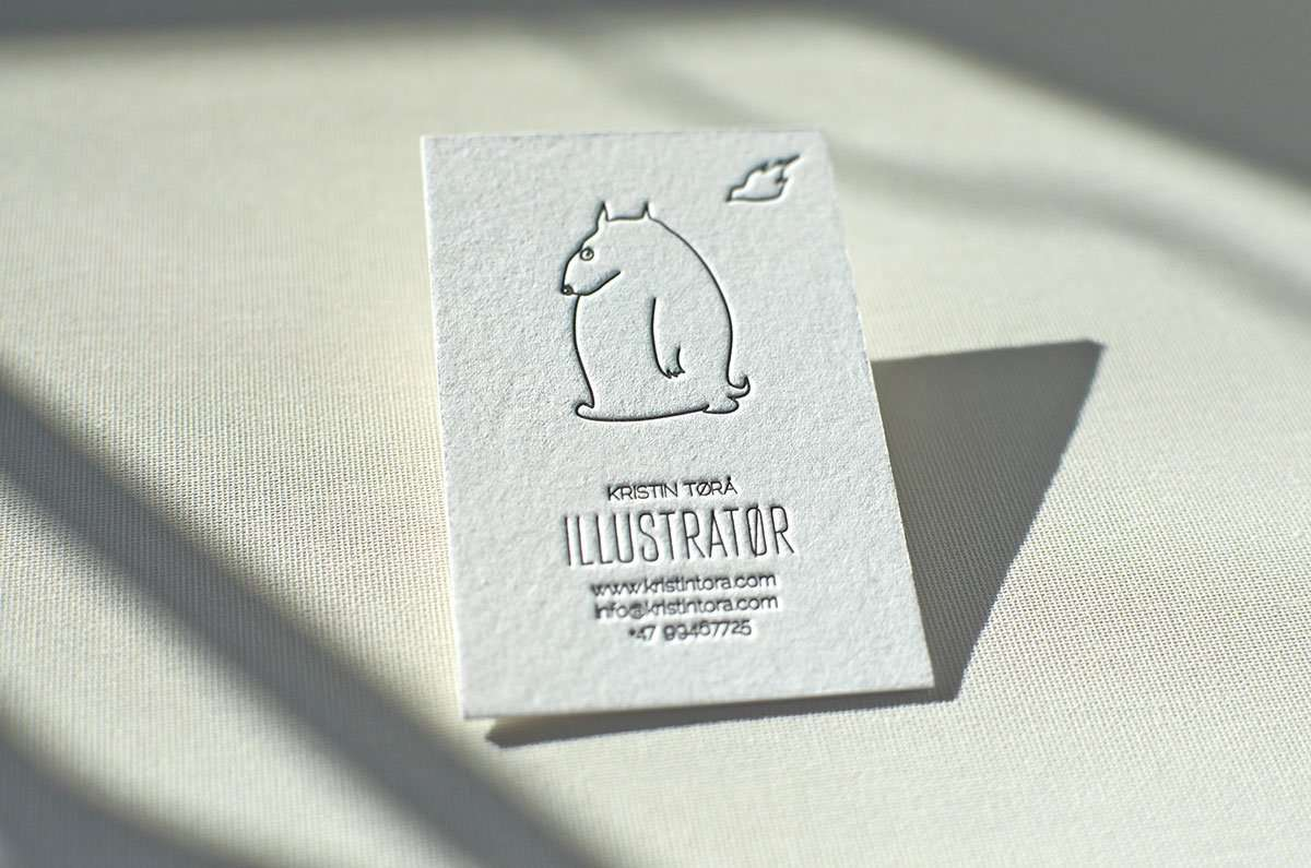 Hand painted business card elegante press colourmoves