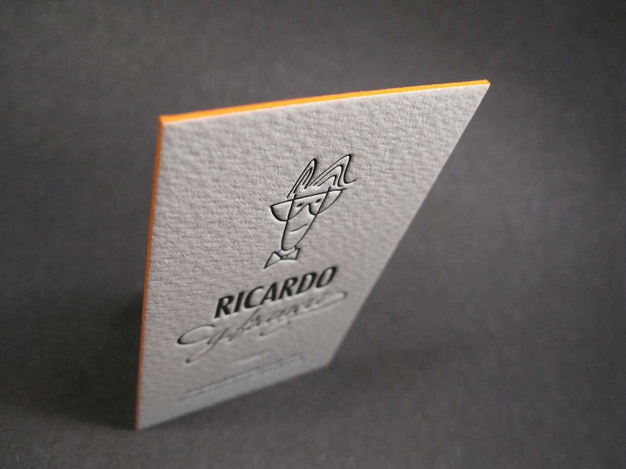 Business cards with avatar elegante press design letterpress business cards with avatar 2 colourmoves