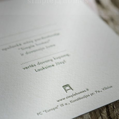 Letterpress gift coupon 3