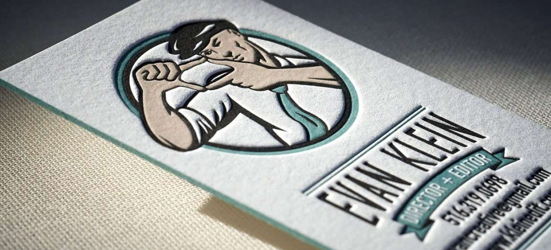 Vintage letterpress business card 1