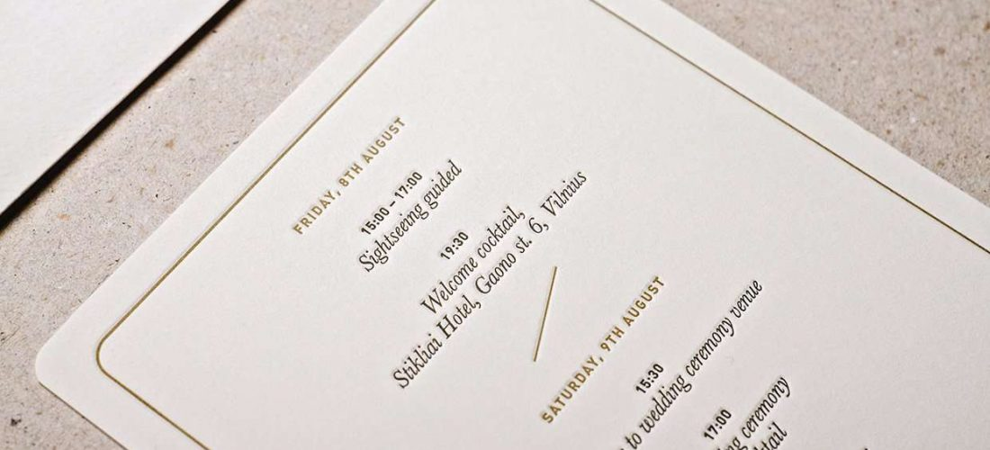 Royal Letterpress Wedding Invitation 5